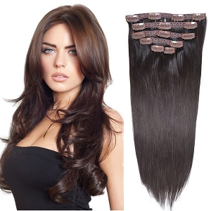 Best clip in hair extensions of 2017 hair ward 16 clip in hair extensions real human hair dark brown2 6pieces 70grams245oz pmusecretfo Image collections