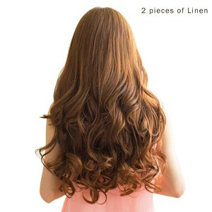 Best clip in hair extensions of 2017 hair ward reecho 20 1 pack 34 full head curly wave clips in on synthetic hair extensions hairpieces for women 5 clips 46 oz per piece light brown pmusecretfo Images